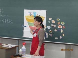 瀬口裕美香さんの講話風景