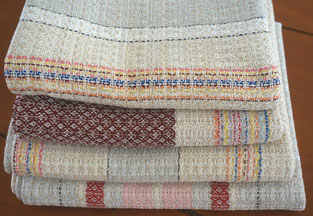 masterly customised handwoven fabric by using left oversy fabric, NDSM, weaving studio