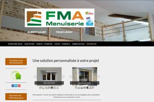 le site internet de FMA Menuiserie à Lezay