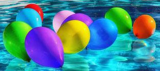 Ballons multicolores pour l'importance des images par e-cime.fr création de site internet en Deux-Sevres