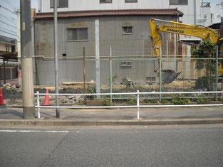 出入口 舗装工事 施工前写真