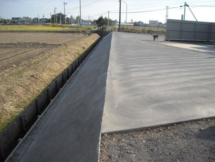 コンクリート舗装工事 施工後写真