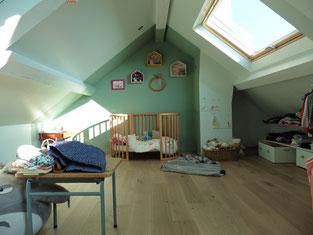 Atelier sur les toits chambre d'enfants