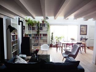 Atelier sur les toits loft décoration pièce à vivre