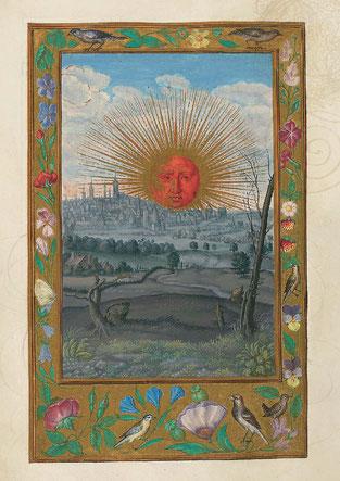 Le Soleil rouge, f. 33v. Temple de Paris
