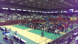 第65回全日本実業団バドミントン選手権大会開会式(2015.7.1)