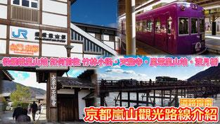 京都嵐山觀光路線介紹 從嵯峨嵐山站 如何前往 渡月橋
