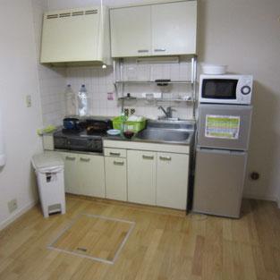 グループホーム キッチン 冷蔵庫 電子レンジ