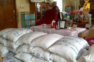 Livraison de riz à AZM acheté par PASDB.