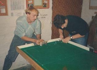 Ebenfalls ein Bild aus dem alten Jahrtausend - Kersten Krambber und Marcus Müller bei der VM 1990
