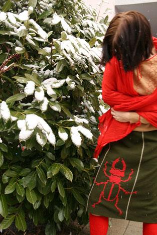 Hirschkäferl im Schnee, Foto: B. Winkler