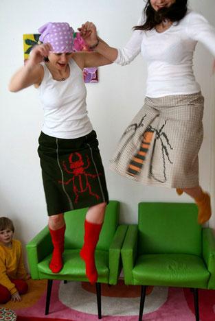 Hirschhornkäfer und Biene; Foto: B. Winkler