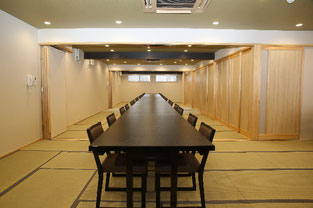 2階 3部屋を繋げた大広間