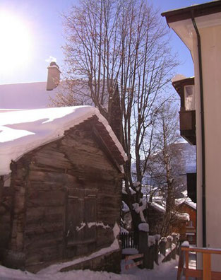 A village house in winter