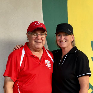 Photo of mixed pairs champions, Don Caswell and Kathy Carroll