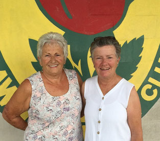 Women's Pairs champions, Jackie Rigley and Joan Murphy-Walker
