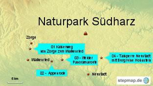 Bild: Karte Südharz