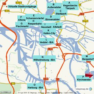 Bild: Virtuelle Stadtrundgänge in Hamburg