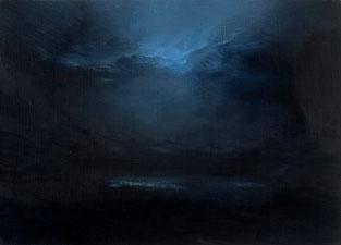 o.T., 2009, 21 x 29 cm, Öl auf Hartfaser