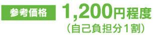 1200円程度