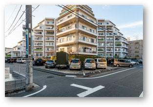 戸山マンションの外観写真