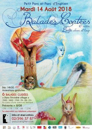 Affiche des Balades contées 2018
