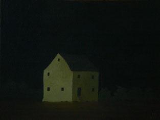 "Martin Guido Becker, ""Gelbes Haus"", 2016, Öl/Lwd, 30/40 cm"
