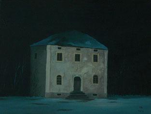 """Martin Guido Becker, """"Verlassenes Haus"""", 2016, Öl/Lwd, 30/40 cm"""