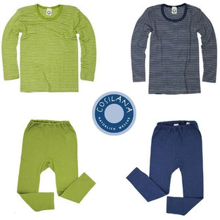 Предлагаме също и термо бельо на немската фирма Cosilana, което е в съчетание с естествена коприна. То е доста по-тънко, но е изключително нежно и особено подходящо за деца с по-чувствителна кожа.