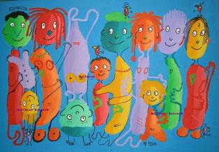 """""""grosses Blaumachen"""",  Acryl auf Leinwand  100/70cm  12/2005"""