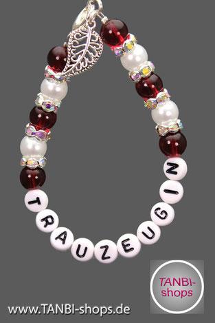 Armband, Trauzeugin, Accessoire, Hochzeit, Trauzeuginnengeschenk, Geschenk, Danke Trauzeugin