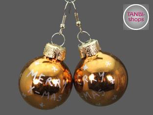 Weihnachtsohrringe, festlicher Schmuck, Wichtelgeschenk, Wichteln, Geschenk, Adventskalenderfüllung,
