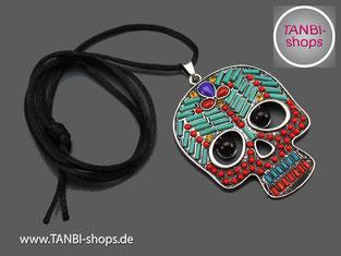 Totenkopf, Skull, Totenkopfkette, Skullkette, Faschingskette, Fasching, Karnevalskette, Karneval, Faschingsaccessoire, Karnevalsaccessoire, Pirat, Indianer, närrische Zeit