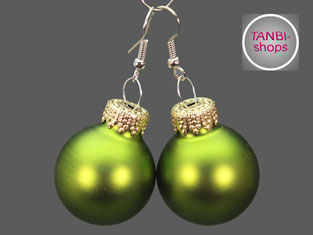 Weihnachtsohrringe, Nikolausgeschenk, Weihnachtsgeschenk, Wichtelgeschenk, wichteln, Adventskalender füllen, Adventskalenderfüllung, Weihnachtsschmuck, Ohrringe, Weihnachtskugel, grün