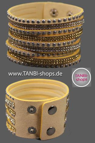 Wickelarmband, Strass, Strassarmband, Lederimitat, Armband, Wildlederlook,  Kunst Wildlederarmband, mehrreihiges Armband