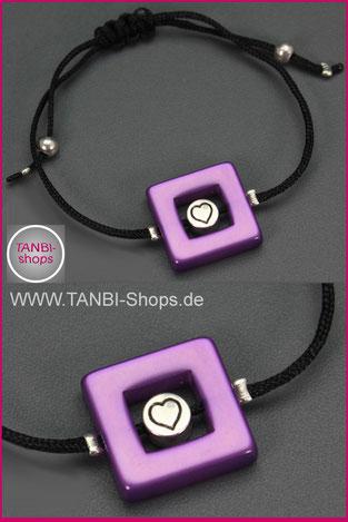 Armband,Herz, Lila, 12.99