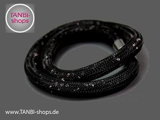 Wickelarmband, Armband, elegant, Strass, festlich, schwarz, glitzernd, glänzend