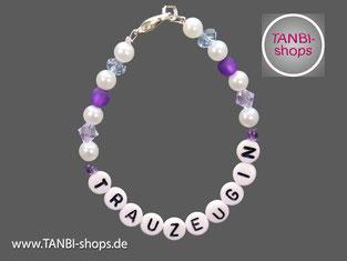 Armband, Trauzeugin, Hochzeit, Accessoire, Geschenk, lila, Flieder, fliederfarben,