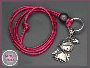 Kinderkette, violett,Kommunion,Engel, Herz,Flügel,Firmung,14.99