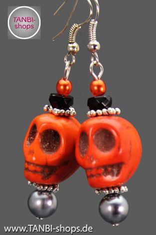 Skulls, Skull, Ohrringe, Totenkopf, Totenschädel, Fasching, Halloween, Accessoire