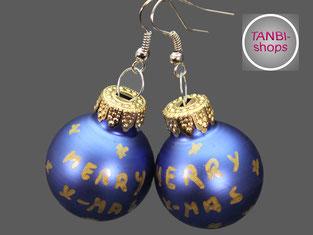 Weihnachtskugeln, Weihnachtsohrringe, Wichtelgeschenk, Nikolausgeschenk, Adventskalender füllen, Adventskalenderfüllung, Weihnachtsgeschenk,
