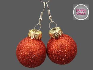 Wichtelgeschenk, Weihnachtsohrringe, Nikolausgeschenk, Adventskalenderfüllung, Weihnachtsschmuck, Weihnachtskugeln,