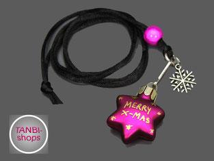 Weihnachtskette, merry x-mas, Stern, Weihnachtsschmuck, Wichtelgeschenk, Weihnachtsgeschenk, Nikolausgeschenk, Weihnachtsschmuck
