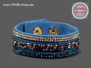 Wickelarmband, Armband, Strassarmband, Wickelstrassarmband, Wickelkunstlederarmband, Kunstleder, Kunstlederarmband, Tanbi-shops,