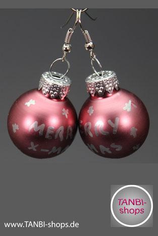 Weihnachtsohrringe, Ohrringe, Weihnachtskugeln, Weihnachten, Weihnachtsgeschenk, Wichtelgeschenk, wichteln, Nikolausgeschenk, Weihnachtsschmuck