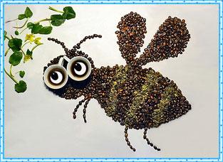 Кофейная картинка пчёлки