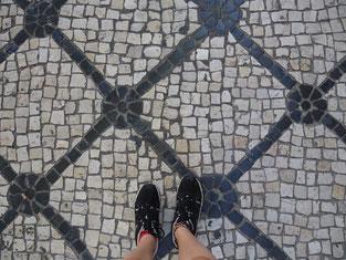Portugal, Lissabon, Pflastersteine, rutschig