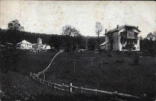 Le Gîte de Giron dans l'Ain, début de la construction de la maison
