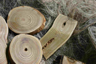 Essigbaumholz geschnittene Knopfrohlinge für Herstellung von großen Holzknöpfen Essigbaum, Zierknöpfe handmade, grüne Farbe