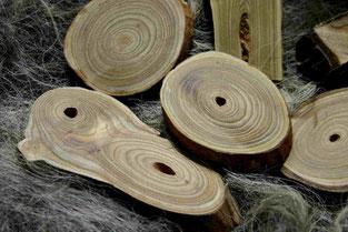 Holz des Essigbaums Rohlinge für Knöpfe, handgefertigt